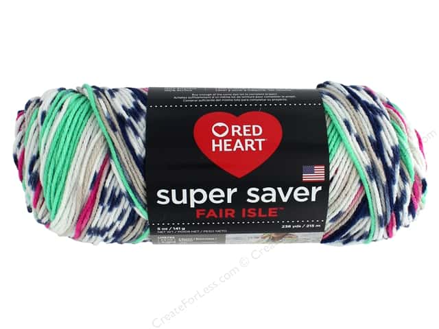 Red Heart Super Saver Fair Isle Yarn 236 yd. #7251 Derby