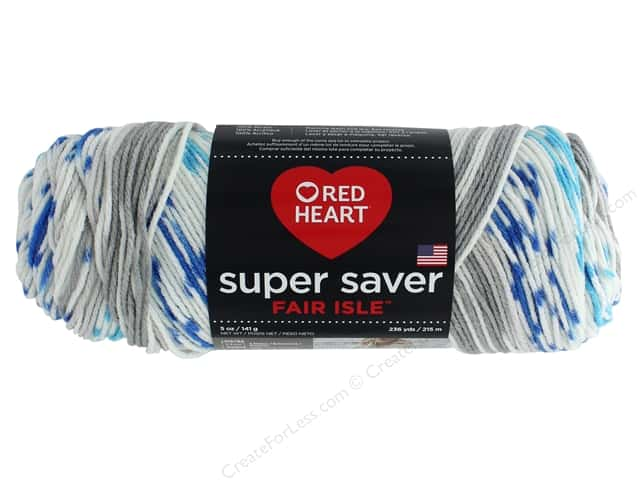Red Heart Super Saver Fair Isle Yarn 236 yd. #7247 Calm