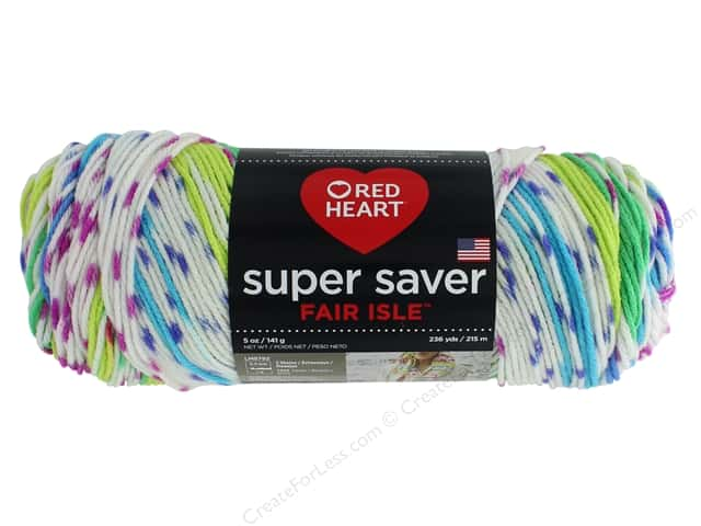 Red Heart Super Saver Fair Isle Yarn 236 yd. #7255 Parrott