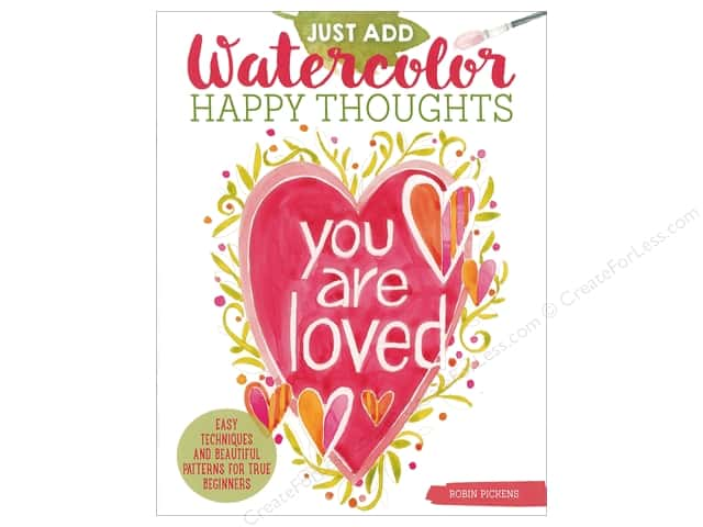 Design Originals Just Add Watercolor Happy Thoughts Book