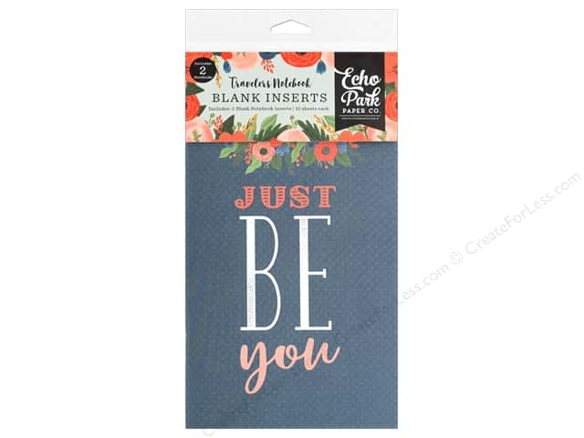 Echo Park Collection Travelers Notebook Full Bloom Notebook Insert Blank