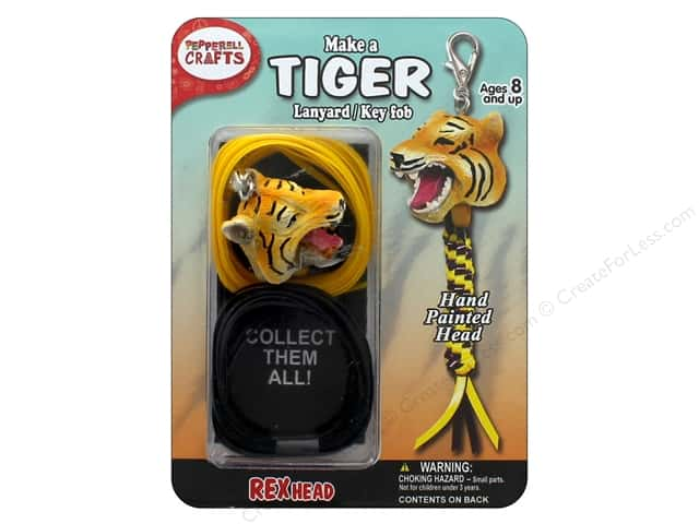 Pepperell Kit Rexheads Keychain Tiger