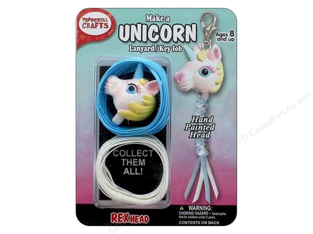 Pepperell Kit Rexheads Keychain Unicorn