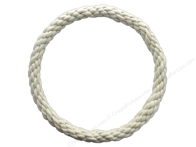 Pepperell Craft Rope Wreath Cotton Cord 12 in.