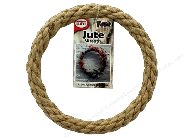 Pepperell Craft Rope Wreath Jute 6 in.