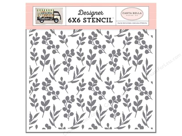 Carta Bella Collection Spring Market Stencil Branches