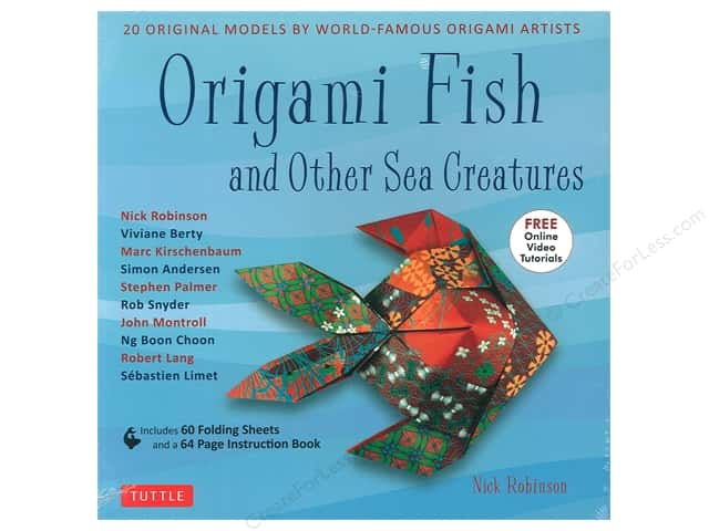 Tuttle Publishing Origami Fish And Other Sea Creatures Kit Book