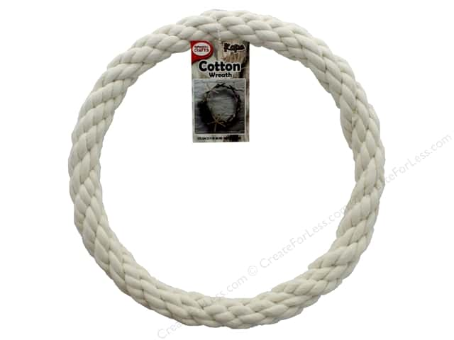 Pepperell Craft Rope Wreath Cotton Cord 10 in.
