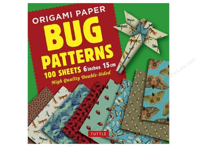 """Tuttle Publishing Origami Paper 6""""x 6"""" Bug Patterns Book"""