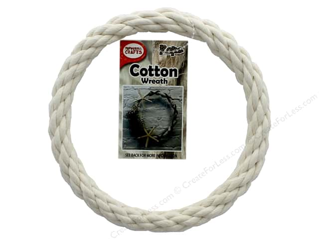 Pepperell Craft Rope Wreath Cotton Cord 6 in.