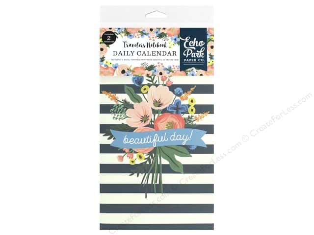 Echo Park Collection Travelers Notebook Fancy Flora Notebook Insert Daily