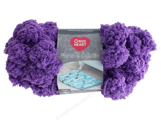 Red Heart Pomp-a-Doodle Yarn 14 yd. #9356 Grape