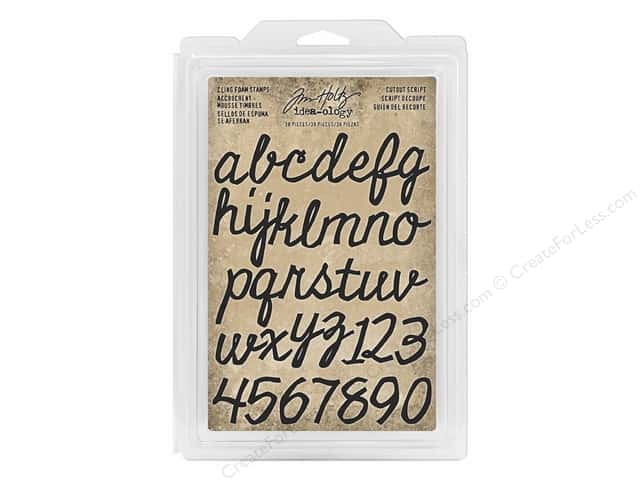Tim Holtz Idea-ology Foam Stamp Cutout Script