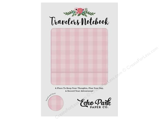 Echo Park Collection Travelers Notebook Pink Gingham