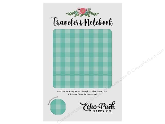 Echo Park Collection Travelers Notebook Teal Gingham