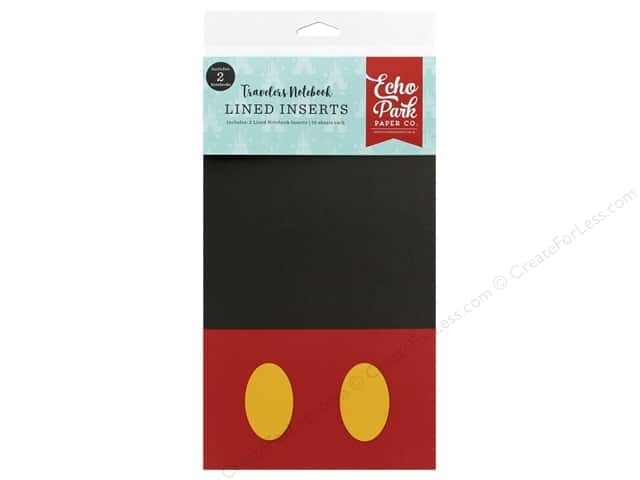 Echo Park Collection Travelers Notebook Mouse & Me Notebook Insert Lined