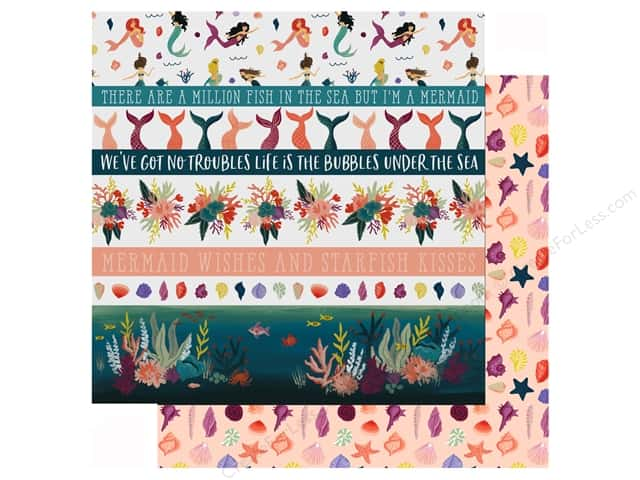 Echo Park Collection Mermaid Tales Paper 12 in. x 12 in. Border Strips (25 pieces)