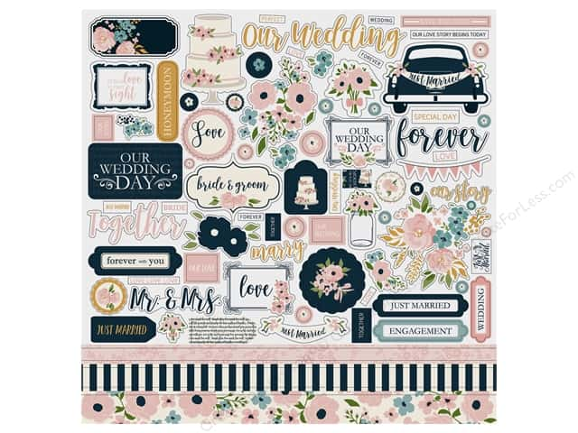 Echo Park Collection Just Married Sticker 12 in. x 12 in. (15 pieces)