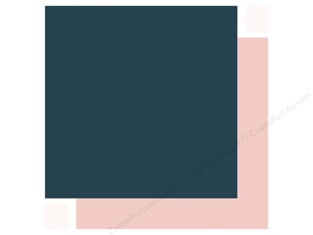 Echo Park Collection Just Married Paper 12 in. x 12 in. Navy/Pink (25 pieces)