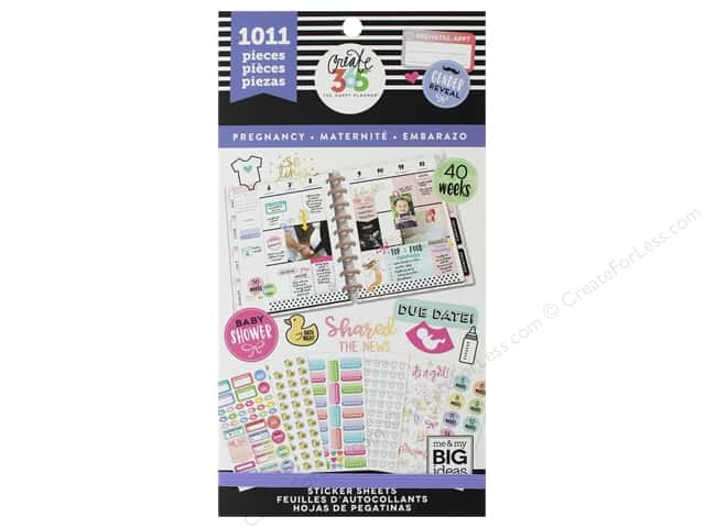 Me&My Big Ideas Collection Create 365 Happy Planner Sticker Value Pack Pregnancy