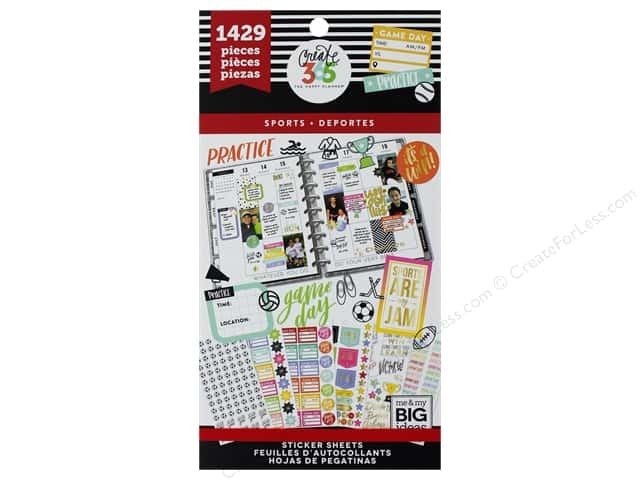 Me&My Big Ideas Collection Create 365 Happy Planner Sticker Value Pack Sports