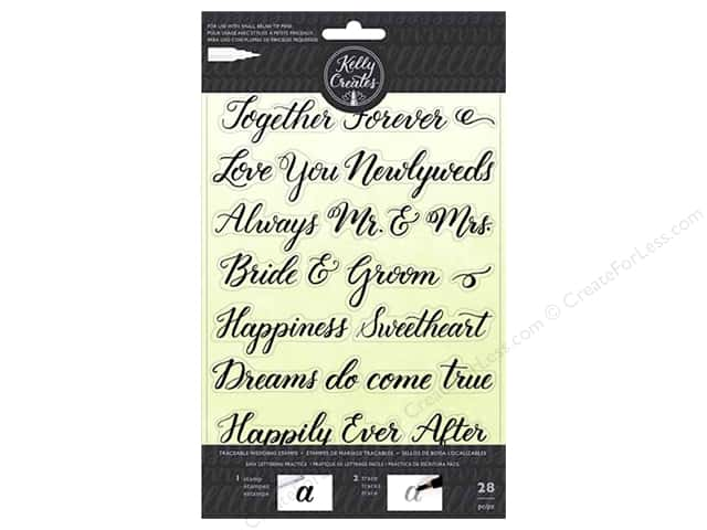 American Crafts Collection Kelly Creates Stamp Traceable Wedding