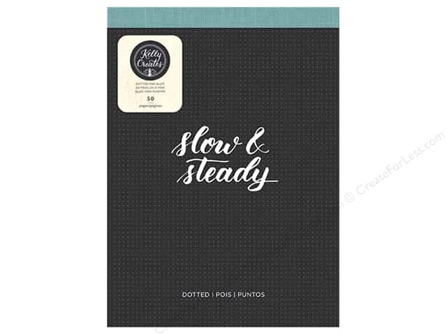 """American Crafts Collection Kelly Creates Paper Pad 8.5""""x 11"""" Dotted"""