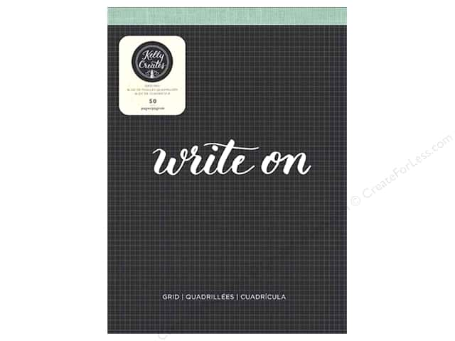 """American Crafts Collection Kelly Creates Paper Pad 8.5""""x 11"""" Grid"""