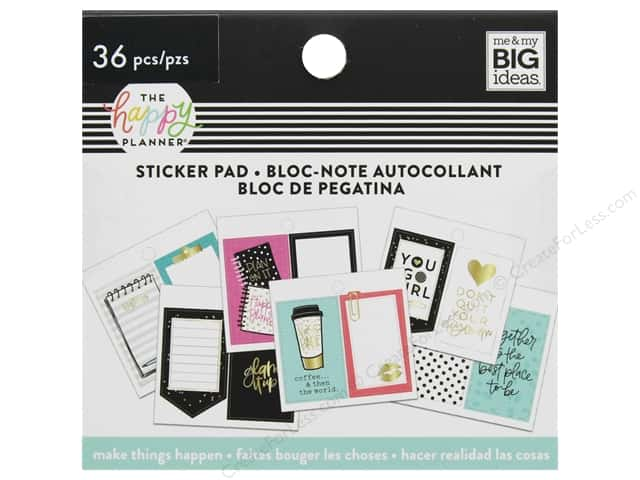 Me&My Big Ideas Collection Create 365 Happy Planner Sticker Pad Tiny Things Happen