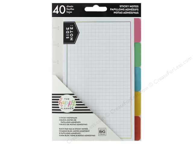 Me&My Big Ideas Collection Create 365 Happy Planner Sticky Notes Tabs Bright