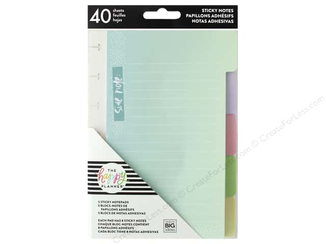Me&My Big Ideas Collection Create 365 Happy Planner Sticky Notes Tabs Pastel