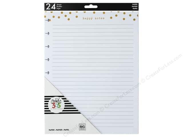 Me&My Big Ideas Collection Create 365 Happy Planner Medium Fill Foil Happy Notes