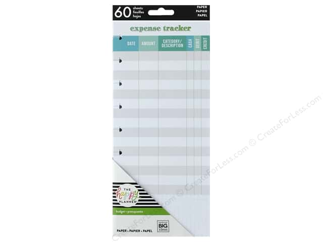 Me&My Big Ideas Collection Create 365 Happy Planner Half Sheet Expense Tracker