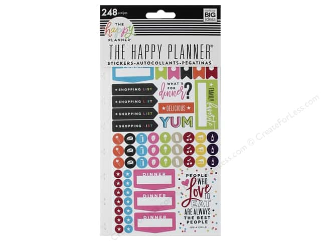 Me&My Big Ideas Collection Create 365 Happy Planner Sticker What's For Dinner