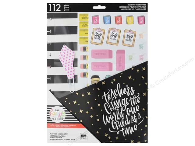Me&My Big Ideas Collection Create 365 Happy Planner Accessory Pack Big Teachers Gonna Teach