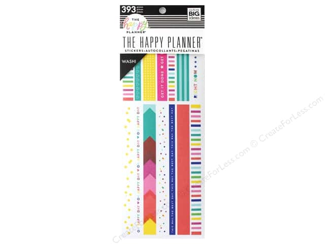 Me&My Big Ideas Collection Create 365 Happy Planner Washi Book Brights