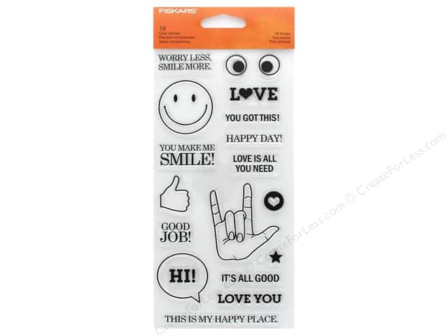 Fiskars Stamp Clear All Smiles