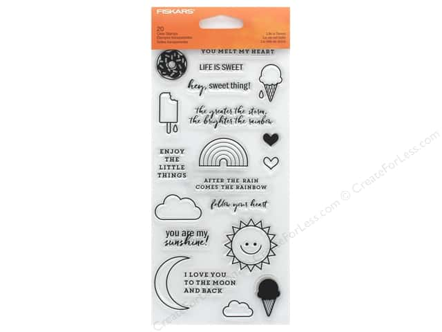 Fiskars Stamp Clear Life Is Sweet