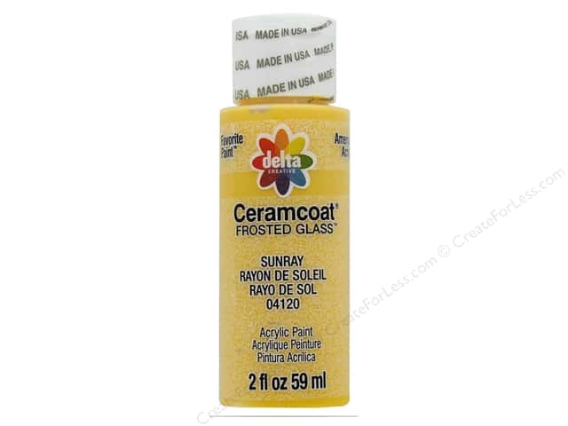 Delta Ceramcoat Acrylic 2 oz Frosted Glass Sunray