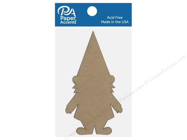 Paper Accents Chip Shape Gnome Natural 6 pc
