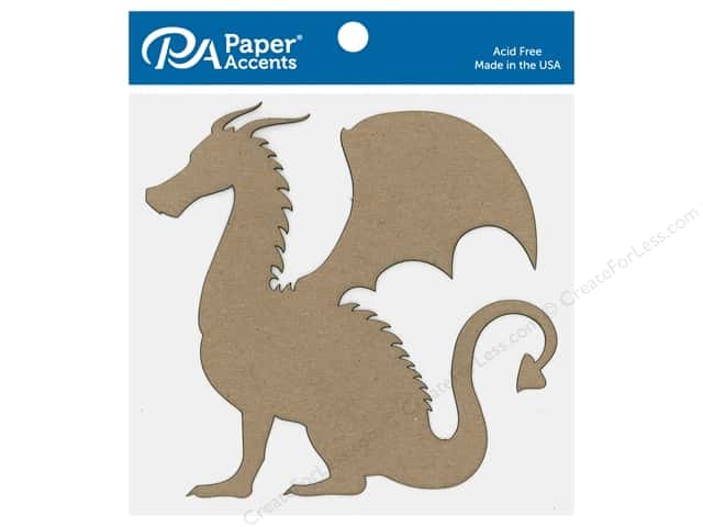 Paper Accents Chip Shape Dragon Natural 6 pc