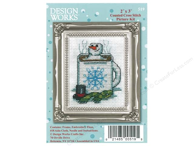 Design Works Counted Cross Stitch Kit 2 x 3 in. Cocoa Snowman
