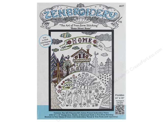 Design Works Zenbroidery Fabric 14 in. x 18 in. Home Sweet Home