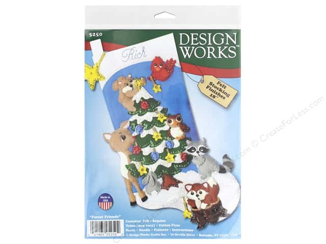Design Works Kit 18 in. Felt Stocking Forest Friends