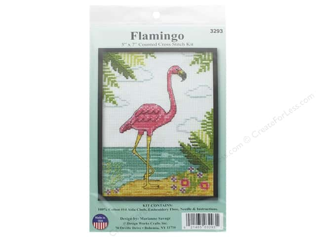 Design Works Counted Cross Stitch Kit 5 x 7 in. Flamingo