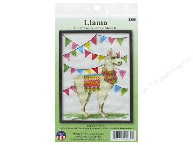 Design Works Counted Cross Stitch Kit 5 x 7 in. Llama