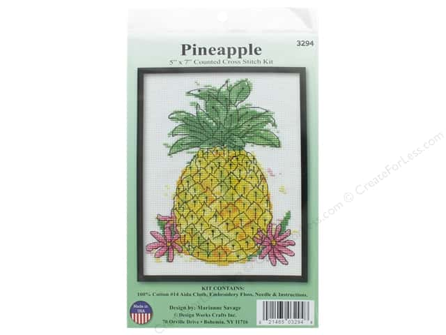 Design Works Counted Cross Stitch Kit 5 x 7 in. Pineapple