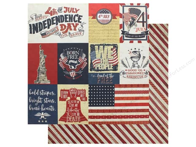 """Photo Play Collection Red White Blue Paper 12""""x 12"""" Independence Day (25 pieces)"""