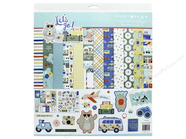 Photo Play Collection Lets Go Collection Pack 12 in. x 12 in.