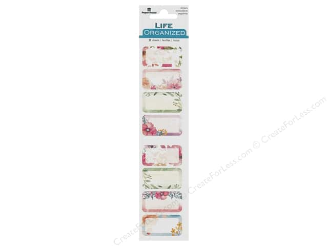 Paper House Collection Life Organized Sticker Tracker Bubble Floral